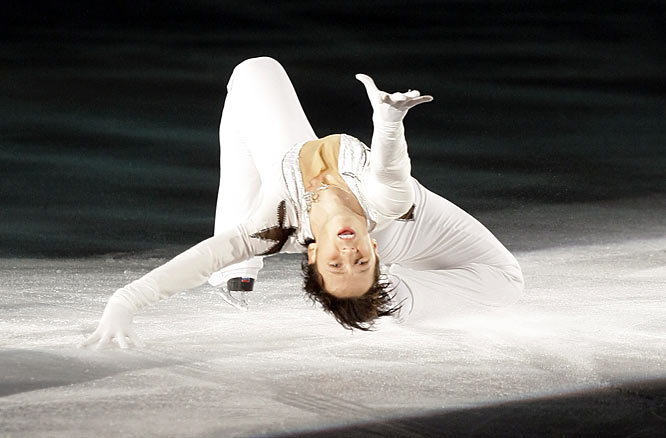 Words can't possibly do justice to Weir's performance to Lady Gaga's <i>Poker Face</i> at a figure skating event in Korea last week. Even Will Ferrell's character in <i>Blades of Glory</i>, Chazz Michael Michaels, thought it was over the top. Check it out here: http://www.youtube.com/watch?v=zGmPLOwVCtQ