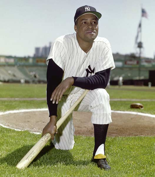 Elston Howard, who will be named the American League's MVP in 1963, becomes the first black to play for the Yankees.