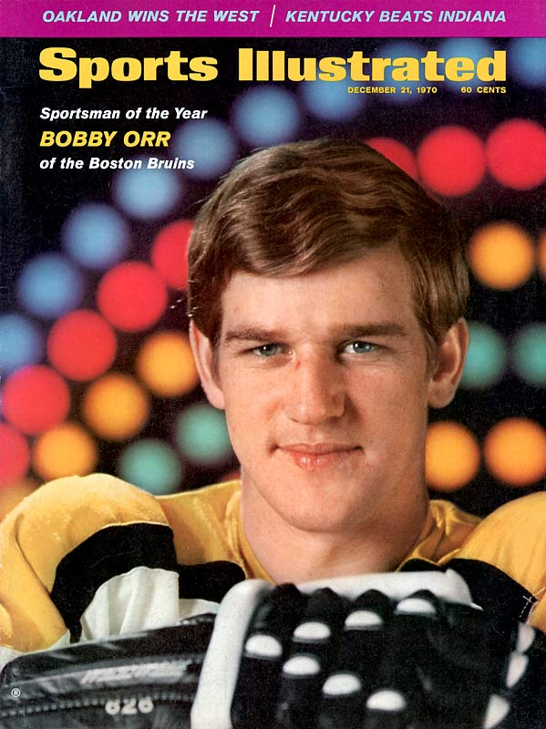 Boston's Bobby Orr becomes the first defenseman to win the NHL's scoring title.