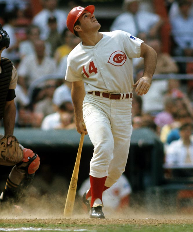 In his first major league at-bat, Pete Rose works a walk off Pirates' pitcher Earl Francis.