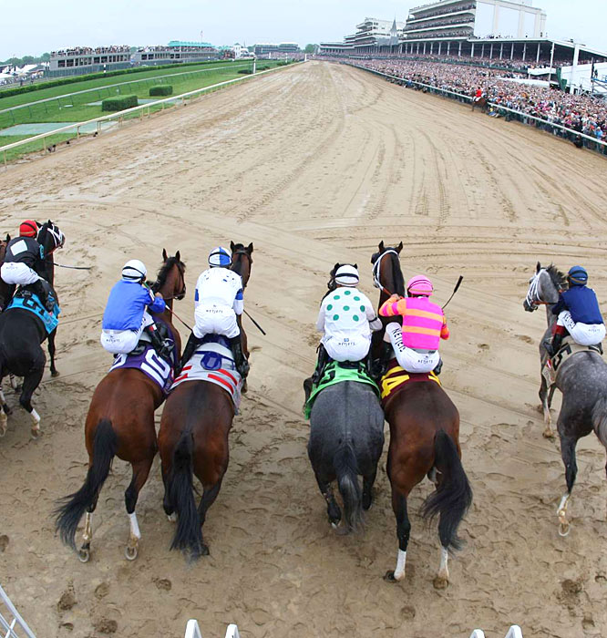 The 135th Kentucky Derby is off and running ... in the mud!