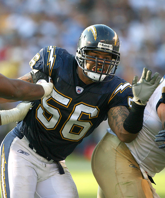 After tallying 12.5 sacks and notching his third straight Pro-Bowl bid in 2007, Merriman underwent reconstructive surgery to repair torn knee ligaments. Merriman, who had more sacks than any other player from 2005 to '07 (39.5), missed the entire '08 season. Time will tell if he's still the same player.