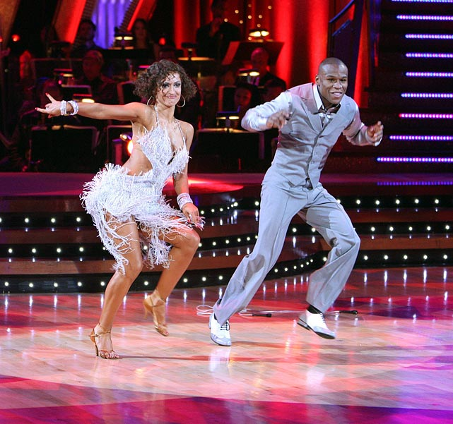 Paired with dancer Karina Smirnoff, the boxing champion was the fourth contestant booted from the fifth season.