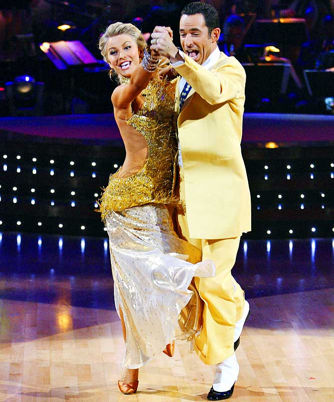 The IRL's Castroneves won  Dancing With the Stars  in 2008. Among the hottest topics was a rumored romance with his dance partner, Julianne Hough, which he denied in an interview with  SI .