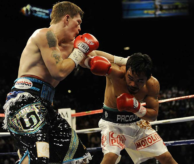 Pacquiao was a 2-1 favorite, but few anticipated an easy decision or that Hatton would be knocked down twice in the first round.