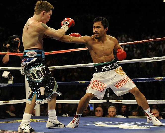 Pacquiao's punches came straight down the middle and landed with increasing frequency as the fight went on.