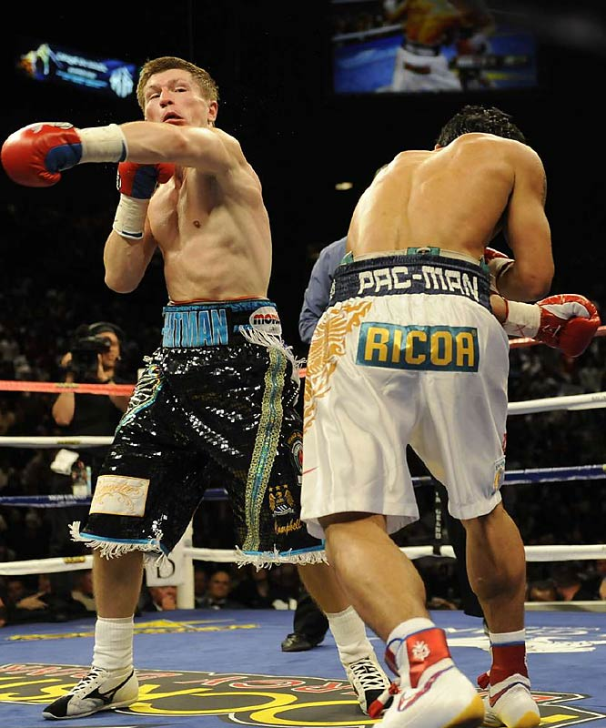 Hatton connected on only 18 of 78 punches. Pacquiao landed 72 of 127 in a bout witnessed by 16,262 at the MGM Grand Arena..