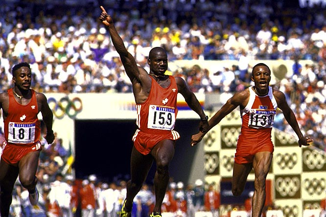Johnson tested positive for stanozolol after his world record, gold medal-winning performance in the 100 meters at the 1988 Olympics in Seoul, South Korea. He initially denied knowingly using steroids, but he later admitted it during a Canadian government inquiry. After serving a suspension and being stripped of his medal and record, Johnson returned to racing, only to test positive for testosterone doping in 1993 and earn a lifetime ban.