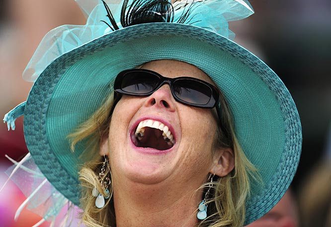 What would a Kentucky Derby be without its bevy of spectators, some decked out more than others.