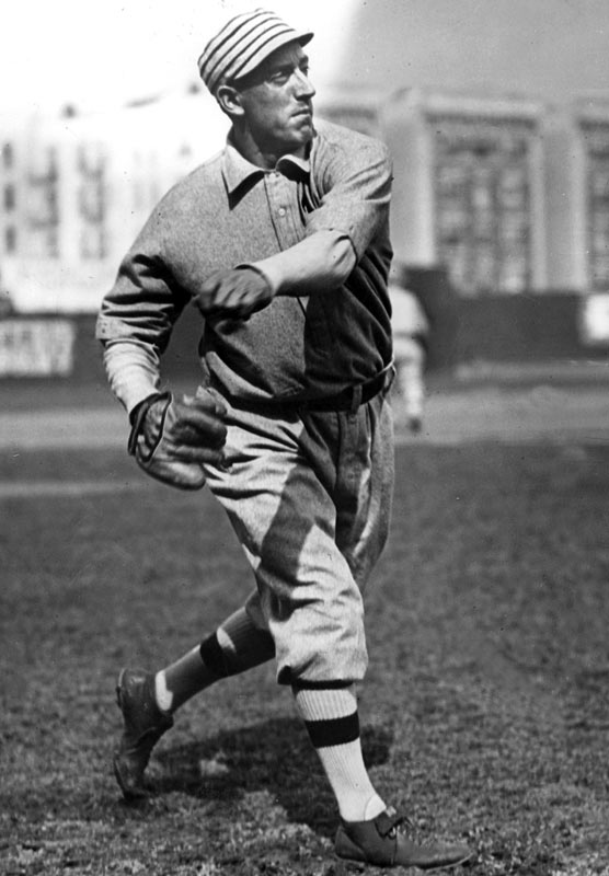 "A finesse pitcher with a sweeping sidearm curveball, Edward Stewart Plank won at least 20 games in eight of his 17 seasons, leading the Philadelphia Athletics to six American League pennants. Despite not playing baseball until college, ""Gettysburg Eddie"" remains the all-time leader in complete games and shutouts among left-handers."