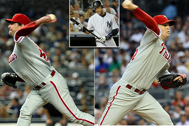 Call it a consolation prize: The Yankees took the 2009 title in six games, but the Phillies took two of three in the Bronx in the interleague rematch the following summer. Jamie Moyer and Kyle Kendrick put together strong outings on the mound to lead Philadelphia.  Derek Jeter went 0-for-11 in the series.