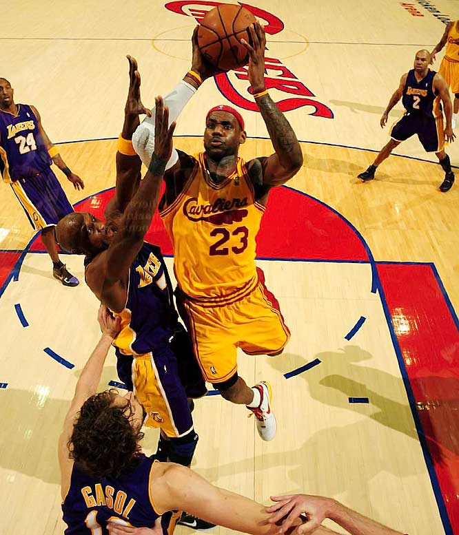 LeBron guided Cleveland to a league-best 66-16 record and led the team in scoring (28.4), rebounding (7.6), assists (7.2) and steals (1.69). He became the first Cavalier to win the MVP award, doing it handily over second-place Kobe Bryant and third-place Dwyane Wade.
