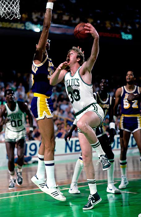 The first Finals duel between Larry Bird and Magic Johnson lived up to expectations, from Gerald Henderson's improbable steal to save the Celtics in Game 2, to Kevin McHale's clothesline of Kurt Rambis that helped turn the tide in the Game 4 overtime classic, to the Lakers' furious comeback in their Game 7 loss in Boston.