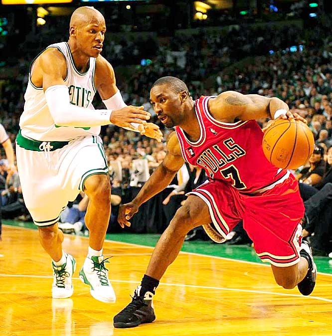 Gordon helped make Bulls-Celtics a classic by engaging Ray Allen in a memorable Game 2 duel (Gordon finished with 42 points), hitting a game-tying three-pointer at the end of the first overtime in Game 4, and scoring a game-high 33 points in Game 7.
