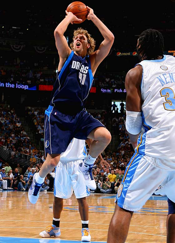 Nowitzki averaged 34.4 points (on 53.4 percent shooting), 11.6 rebounds and 4.0 assists in Dallas' second-round loss to Denver.