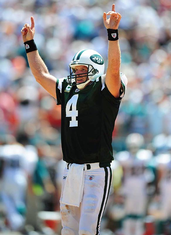 """Favre decides to come back and is traded to the Jets. He says: """"My interest at first ... was to stay within the division. (But) I'm here to help the Jets win."""""""