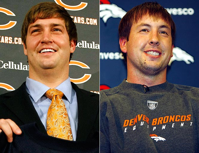 <i>Denver sends QB Jay Cutler to Chicago for QB Kyle Orton, 2009 first- and third-round picks, 2010 first-round pick.</i><br><br>Cutler was never able to get on the same page with Josh McDaniels after learning the new Denver coach tried to trade for former Patriots quarterback Matt Cassel. Orton showed flashes of solid play for the Bears last season but was inconsistent. Denver added Tennessee DE Robert Ayers with the Bears' first-round choice.