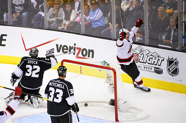The Devils' 2008 third-round pick wasn't in the Calder Trophy discussion at the start of the season, but he was a finalist for the award by the time the 2012 Stanley Cup playoffs began. The 22-year-old center then became the first rookie to score three game-winning goals in one postseason since Colorado's Chris Drury (4) and Milan Hejduk (3) in 1999. Henrique also tied the NHL rookie record of two OT tallies shared by Jacques Lemaire (1968) and Claude Lemieux (1986), one of them eliminating the rival New York Rangers in Game 6 of the Eastern Conference Final. In the Cup final, he staved off the Devils' elimination in Game 4 with a clutch late-third period goal.