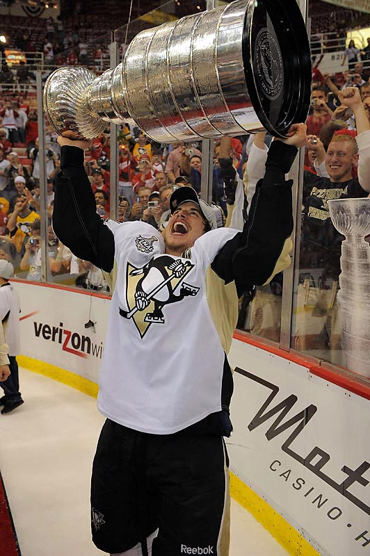 With the Penguins' victory, Sidney Crosby, 21, became the youngest Stanley Cup captain in NHL history.