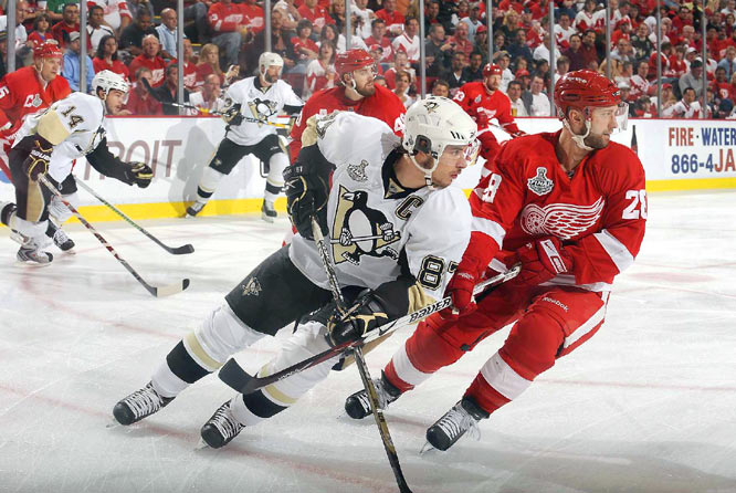 Sidney Crosby was effectively shut down in the opener. He had no points and was limited to just two shots on goal.