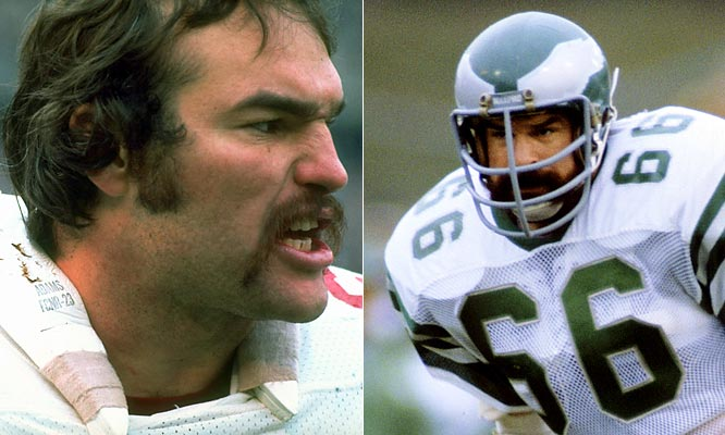 Eagles linebacker Bill Bergey and Saints guard Conrad Dobler developed something of a blood rivalry in the late '70's, a passionate hatred that often resulted in cheap-shot contests and verbal altercations. Bergey, one of the most ferocious tacklers in the league and a proponent for playing the game the ''right way,'' could not stand the notoriously ''dirty'' Conrad Dobler. Ironically, Bergey's career-ending knee injury came on a play in which he was lined up against Dobler (though blame goes to the Astroturf, not Dobler).