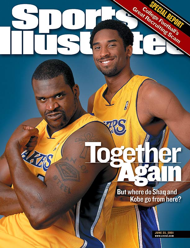 After winning three consecutive NBA championships from 2000 to '02, Shaq and Kobe became basketball's version of Ike and Tina. Before the '03-04 season, Shaq took a shot at Kobe by questioning his importance to the team, and Kobe fired back by criticizing the center for not taking responsibility for losses. After the Lakers lost in the NBA finals, Shaq landed in Miami, and over the next two years the two took shots at each other through the media, with their head-to-head matchups producing unprecedented hype.  The feud ended in 2006, however, when the two reconciled at the All-Star Game.