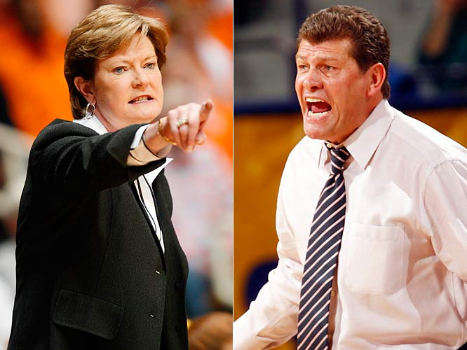 "Put together two most successful programs in women's college basketball history (1679 wins and 13 championships between them) -- one a wise-cracker, and the other...well, not so much -- plus an annual matchup, and you have all the ingredients for a sports feud. Summitt and Auriemma have quarreled via the media throughout the years, particularly over Auriemma's 2003 reference to Tennessee as ""the Evil Empire,"" but in 2007 Summitt took the rivalry to a new level when she refused to renew the perennial matchup between their teams."
