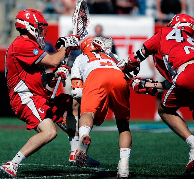 Syracuse's Kenny Nims scored the goal to even the game with 4.5 seconds left and earned the tournament's most outstanding player honors.