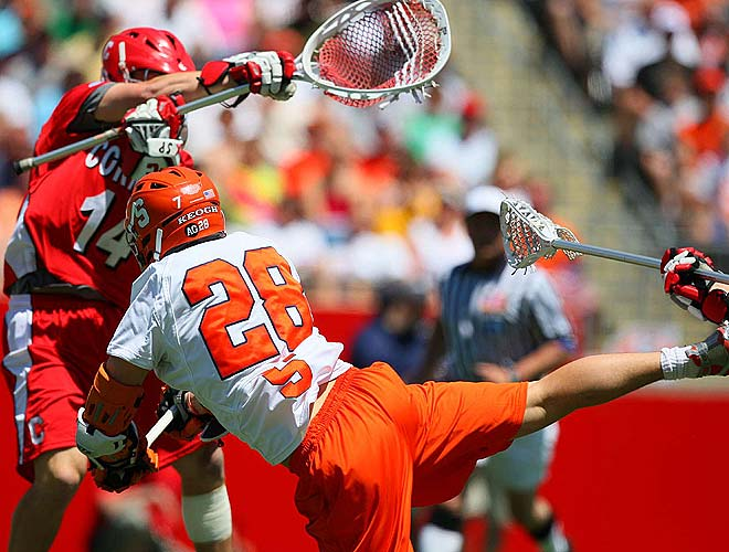 With his team down 9-6 and less than four minutes to go, Syracuse sophomore attacker Stephen Keough scored his second goal.