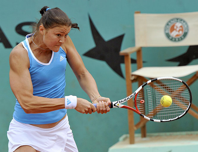Safina entered the French Open in exceptional form, on the strength of back-to-back singles titles in Rome and Madrid. The top-ranked women's player showed no signs of regression early in Paris: She dropped a total of two games in her first two matches.