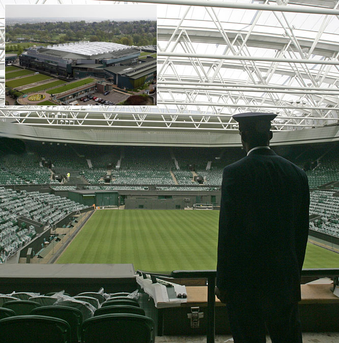 The Magic Box wasn't the only high-tech stadium in the news recently. ESPN Classic announced plans to broadcast the May 17 exhibition matches under Wimbledon's new Centre Court roof. Among those scheduled to participate are Andre Agassi, Steffi Graf, Kim Clijsters and native son Tim Henman.