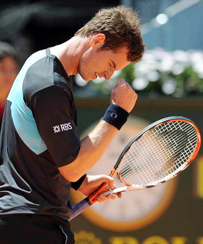 Murray celebrated his 22nd birthday Friday with a high-profile match against Juan Martin del Potro in the Madrid quarterfinals. He's already won three titles in 2009 -- in Doha, Rotterdam and Miami -- while becoming the first British player to make No. 3 in the ATP rankings. The Scot could even shoot past Roger Federer to No. 2 in next week's rankings if he wins the Madrid title and Federer loses before the final.