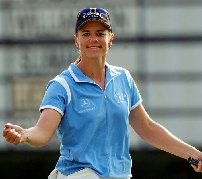 At the Colonial in Fort Worth, Texas, Annika Sorenstam becomes the first woman to play on the PGA tour in 58 years. She ended the day at 1-over par.