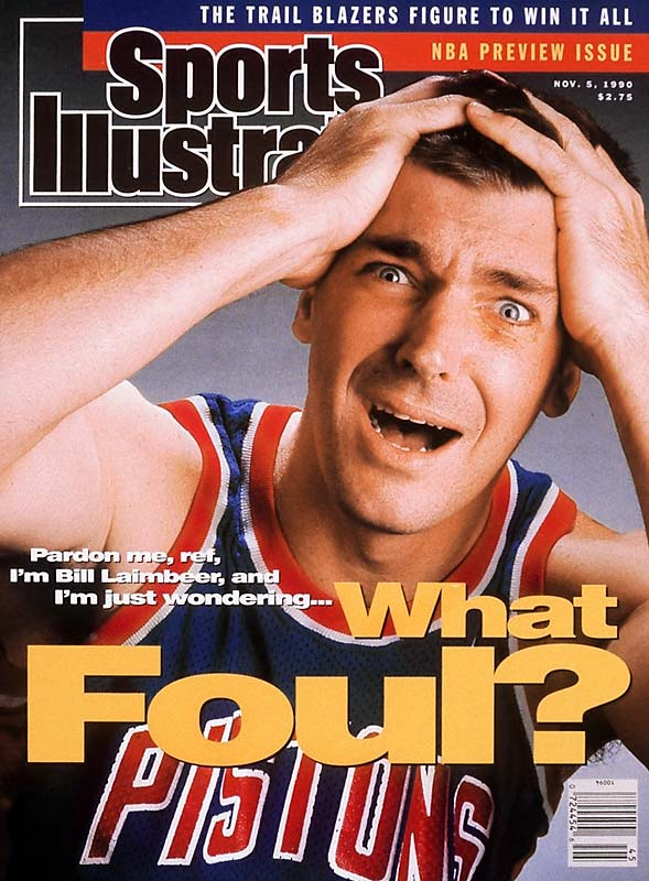 "No athlete drew more contempt from sports fans than original Detroit bad boy Bill Laimbeer, who led the Pistons to two titles. The center put on his classic ""I didn't do anything"" face for this famous cover."