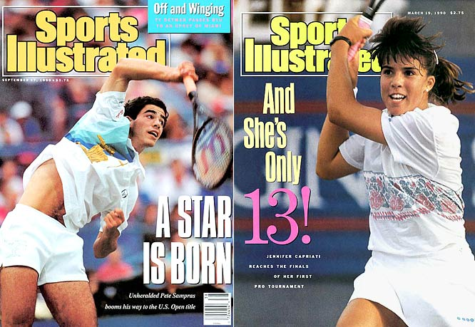 Sampras and Capriati were two bright spots for U.S. tennis in the '90s. While Sampras went onto greatness, Capriati, who appeared on the cover at 13, struggled with success and left the sport for nearly three years before returning in 1996.