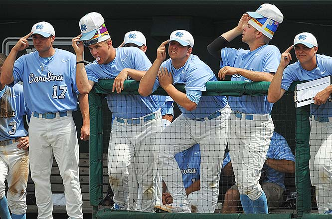 North Carolina set a single-game record with 23 hits in the victory.