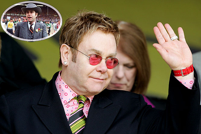"""Though John made his reputation as one of the best performers of all time, his first love remains soccer. He pledges allegiance to one club, Watford, and bought an ownership stake in the club in 1976, then selling it nearly 30 years later. He currently holds the position of Watford's """"Honorary Life President."""""""