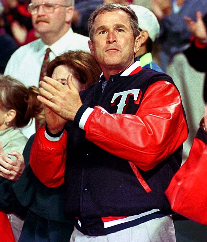In 1989, shortly after helping his father win the presidency, the future 43rd president purchased a share of the Texas Rangers. He was not a silent owner; Bush served as managing general partner for five years and regularly attended games in the stands with fellow fans. He sold his share in 1998 for more than $15 million -- a nice payout on his initial $800,000 investment.