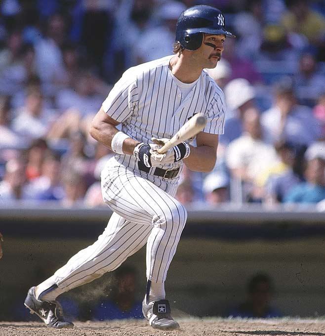 Don Mattingly takes a cut during a game against Milwaukee.