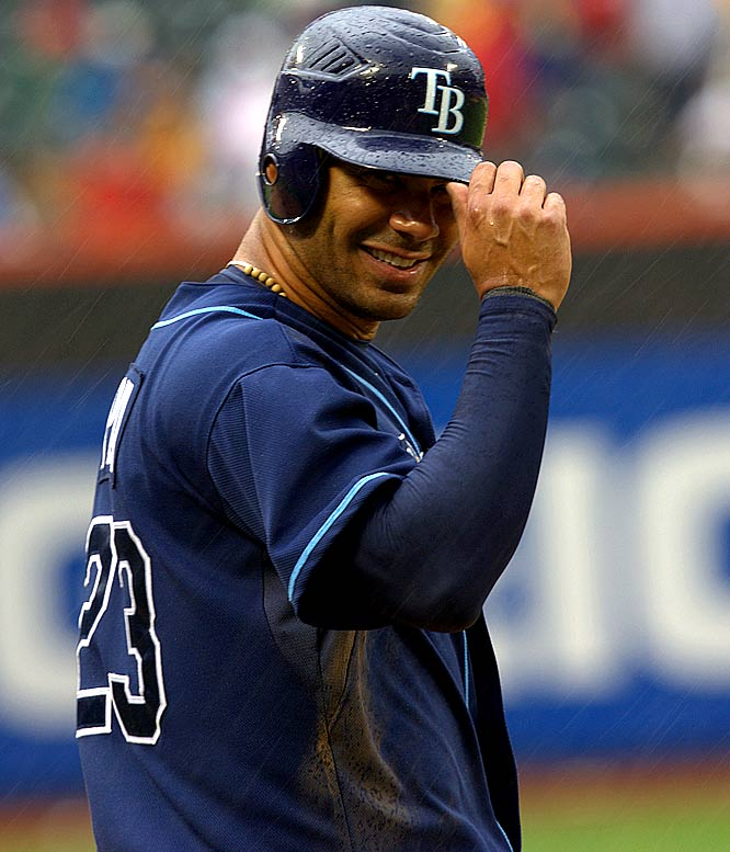 The Rays slugging first baseman leads the AL in home runs (23) and runs (58), but his .238 batting average certainly leaves something to be desire.
