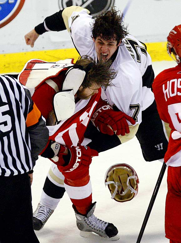 One of the NHL's best defensive forwards, Zetterberg appears to be getting the worst of it in a fight with Pittsburgh's Evgeni Malkin during Game 2 of the Stanley Cup finals. The Red Wings jumped to a 2-0 advantage over the Penguins in the best-of-seven series.