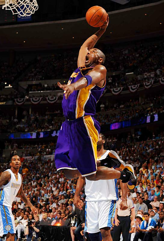 Kobe Bryant helped lift his teammates' level of play and was his usual high-flying self as the Lakers won the Western Conference finals over Denver. As a reward, Bryant will be playing in the sixth NBA Finals of his 13-year career while seeking his fourth league title.