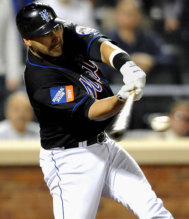 Scheduled to return to the minor leagues, Santos hit a fifth-inning homer and this game-ending single in the 11th on May 29, causing the Mets to rethink those plans. The team traded a backup catcher so that Santos could stay in New York.
