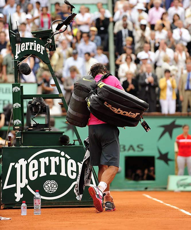 For 31 matches, dating to his debut on May 23, 2005, Rafael Nadal had never walked off a court at the French Open a loser. That is until last Sunday, when the world's No. 1 ranked player and four-time French Open champ lost to Robin Soderling, 6-2, 6-7 (2), 6-4, 7-6 (2).