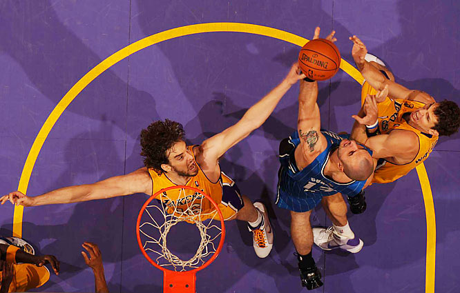 Gasol also had eight rebounds and helped hold the Magic to 29.9 percent shooting from the field.