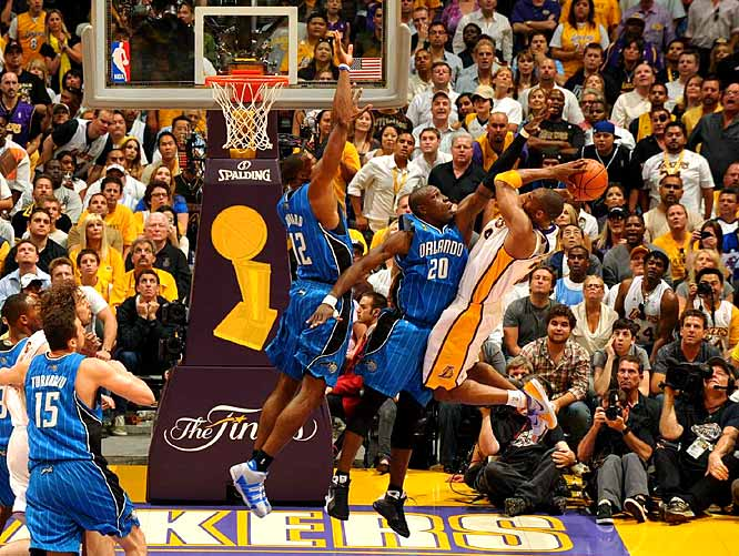 After winning Game 1 by 25 points, Kobe and the Lakers faced a much bigger challenge from Orlando in Game 2.