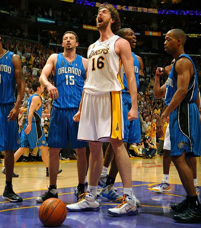 Gasol made 7-of-14 shots and added a team-high 10 rebounds.