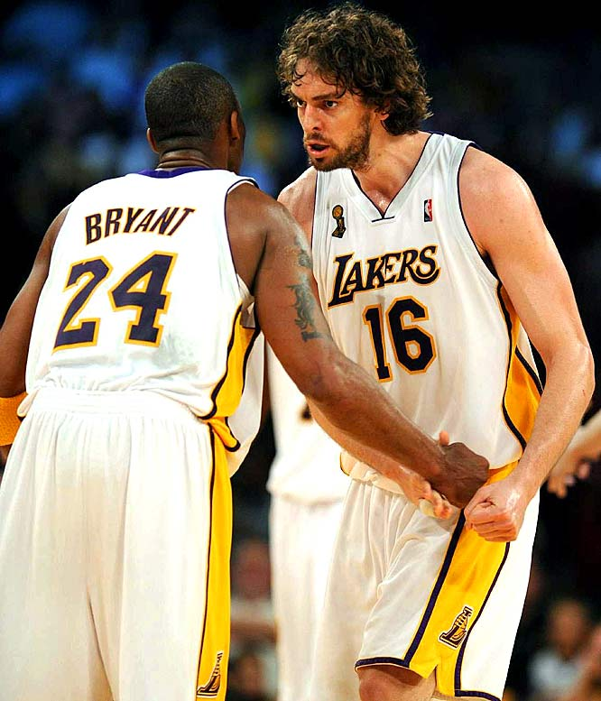 Led by their two All-Stars, the Lakers moved within two victories of their 15th championship.