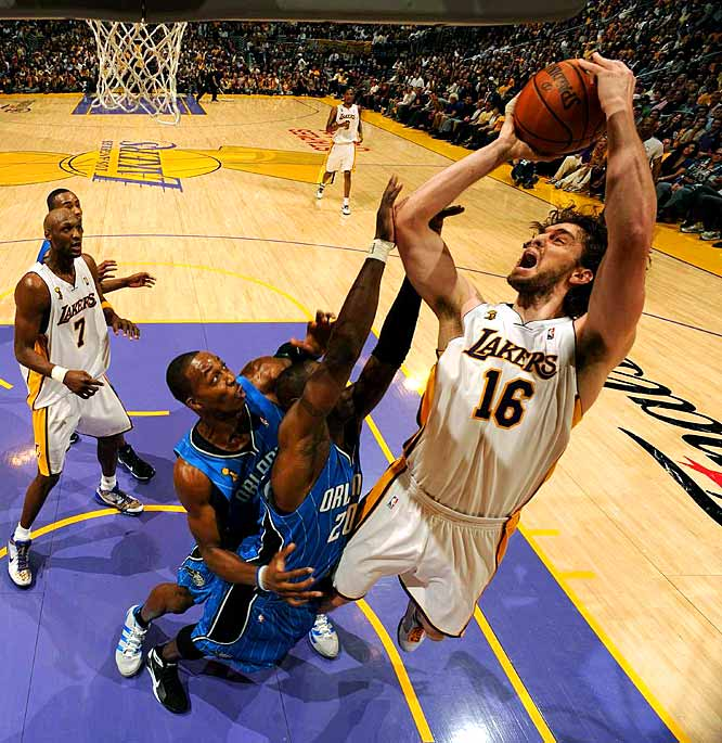 Gasol scored seven of his 24 points in overtime.