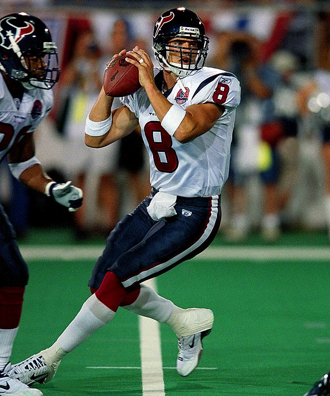 Carr started all but five games for the expansion Texans in his first five seasons, including all 16 as a rookie (where he set a record for most sacks taken with 76). But Carr never led Houston to a winning record; he was released in 2007.